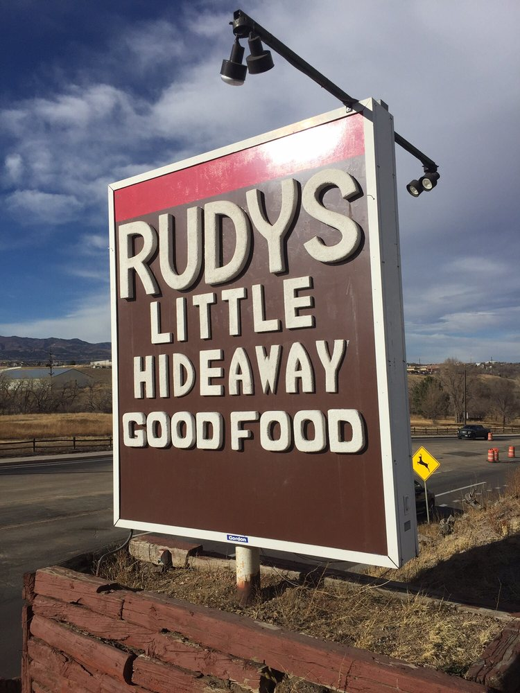 rudy's little hideaway sign